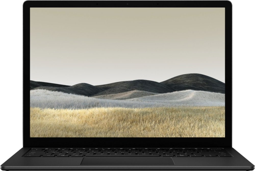 matte black surface laptop